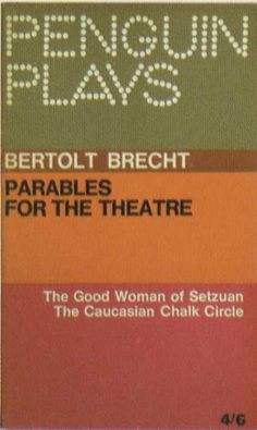 Penguin Books - Parables for the Theatre #covers