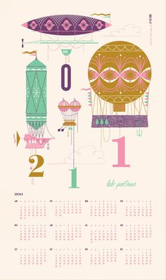 LP Calendar #lab #illustration #calendar #partners