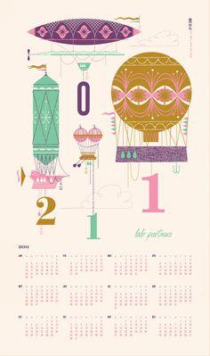 LP Calendar #lab #illustration #calendar #partners