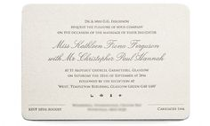 Chris Hannah - Wedding Invitations - Chris Hannah Art Director #invite #ivory #font #script #classic #letterpress #wedding #grey
