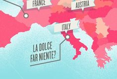 Dribbble - Map-Fographic by kellianderson #map #pink #italy