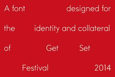 Get Set Festival by Epiforma #branding #typography