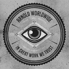 Arnold Worldwide Branding Daran Brossard Creative Co. / DBCCo. #branding #enclosure #crest #seal #logo #typography