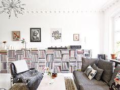 stadshem living room shelving #interior #turntable #design #decor #vinyl #deco #records #decoration