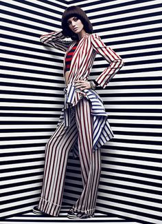 Samantha Rayner x Chris Nicholls #fashion #stripes