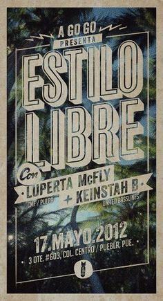 Twitter / @heyluperta: mayo 17 @ Puebla ... frees ... #flyer #vintage #poster
