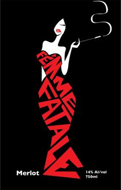 sara lindholm:Femme fatale, Merlot.Ed Appleby(viamarcedith) #design #graphic