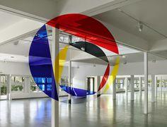 mural, optical, circle, space