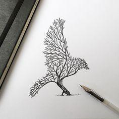 Beautiful Tree / Bird illustration