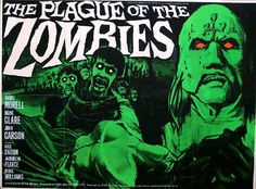 Hammer Horror THE PLAGUE OF THE ZOMBIES #movie #retro #poster