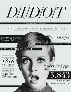 didot fashion mag icon #typography #type #cover #magazine #editorial
