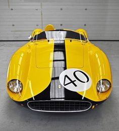 375af4fd81f656cd297c1f0726d0688ebb8c3f55_m.jpg 434×480 pixels #ferrari #yellow #stripe #number #sports #car #race