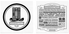 Semiospectacle Identity & Flyer - Nubbytwiglet.com #nubblytwiglet #typography