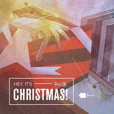 Hey, It's Christmas! #hey #album #jones #yasly #danny #design #christmas #illustration #holiday #music