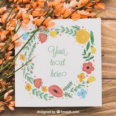Floral paper concept Free Psd. See more inspiration related to Flower, Mockup, Floral, Invitation, Heart, Party, Card, Flowers, Love, Template, Paper, Nature, Invitation card, Cute, Spring, Leaves, Celebration, Happy, Couple, Elegant, Mock up, Save the date, Plant, Natural, Party invitation, Celebrate, Date, Romantic, Blossom, Festive, Beautiful, Up, Love couple, Spring flowers, Save, Greeting, Concept, Flower card, Romance, Petals, Bloom, Mock, Vegetation, Blooming and Romanticism on Freepik.