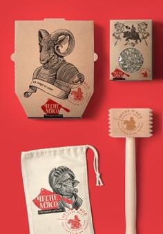 Honest Meat Branding, Illustration and Art Direction by Yaroslav Shkriblyik - Grits & Grids®