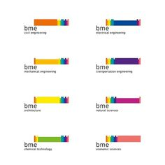BME / UNIVERSITY LOGO AND PICTOGRAMS REDESIGN on the Behance Network #branding #budapest #university #kovcs #attila #logo