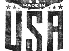 Dribbble - USA, USA, USA... by Tad Carpenter #screen #print #vintage #texture