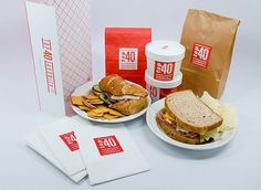 Top 40 Sandwich Identity #sandwich #red #packaging #top #food #identity #kendallhenderson #40 #stationery #logo