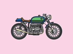 A Straight Cruiser #cruiser #bmw #illustration #bike #motorcycle