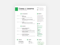 Casey Resume - Free Clean Resume Template with Cover Letter