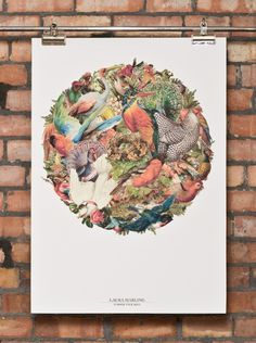 Laura Marling poster by Tim Farrell #birds #poster #circle
