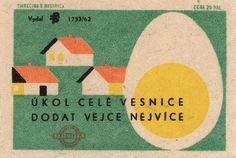 czechoslovakian matchbox label | Flickr - Photo Sharing! #matchbox #egg #ephemera