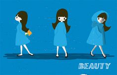 Beauty #blue #illustration #character #girl