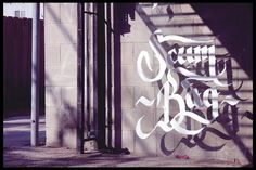 . #calligraphy #shadows #lettering #script #white #scum #photography #custom #bag