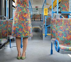 Public Transportation Fabric Series by Menja Stevenson