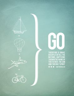 holy spirit project//005 #poster #blue #graphic #bike #transportation #travel #balloon #plane #jesus #holy #sailboat #bracket #bible #go #ho