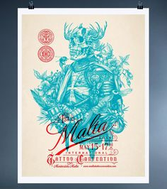 Tattoo Shop Branding: Dagger & Co. by Chad Michael #print #tattoo #poster