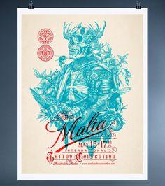 Tattoo Shop Branding: Dagger & Co. by Chad Michael #print #tattoo #poster