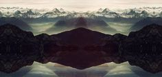 Mountains, sea sky. #triangle #mountain #manipulation #landscape