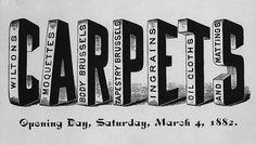 C A R P E T S | Sheaff : ephemera #type