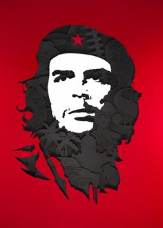 Portrait Series 1 #ernesto #che #guevarra #illustration #papercut #handcrafted #tactile #revolution #cuba #portrait #series