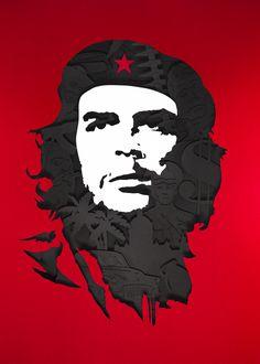 Portrait Series 1 #ernesto #che #guevarra #illustration #papercut #handcrafted #tactile #revolution #cuba #portrait #series