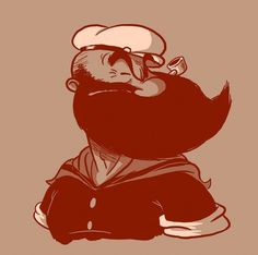 bearded popeye #illustration
