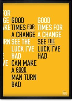 Change Posters | KentLyons #buy #lyrics #charity #smiths #change #poster #typography