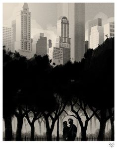 Matt Taylor. Illustrations by Matt Taylor: ... Supersonic Electronic Art #illustration #trees #forest #city #park #silhouette