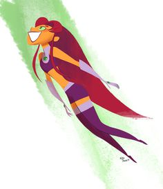 Starfire by ~NickSwift on deviantART #superhero #dc #starfire #girl #illustration #comics