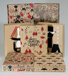 Creative Review EJAF's Love Is In My Blood campaign boxes #packaging #illustration