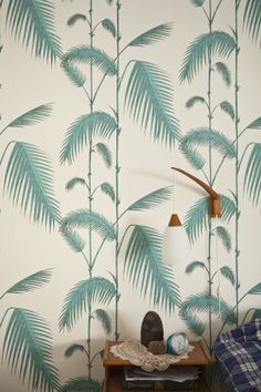 Wallpaper Pattern #wallpaper #palms #green