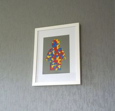 Frame Silhouette Of A Minifig In Lego Pieces #tech #flow #gadget #gift #ideas #cool