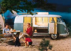 Happy campin' #old #kombi #road #trip #vintage #mood #style
