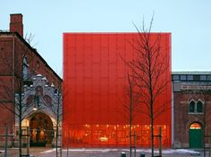 Moderna Museet Malmö | Stockholm Design Lab #swiss #modern #design #orange #environmental #architecture