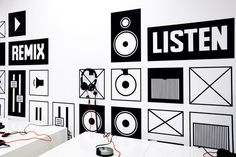 Mother Design #speaker #vinyl #wall #exhibit #signage