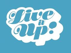 Dribbble - Live it Up by Charlie Wagers #type #badge #script #writing
