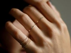 dainty rings! #fashion