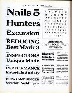 Cheltenham Bold Extended type specimen #type #specimen #typography